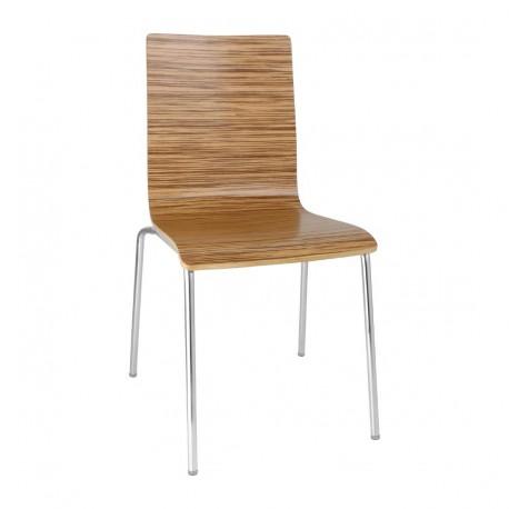 4 chaises dossier carré zebrano Bolero