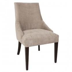 2 chaises de restauration tendance en tissu gris Bolero