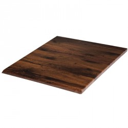 Plateau de table carré chêne antique 600mm Werzalit