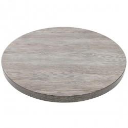 Plateau de table rond effet bois gris 600mm Bolero