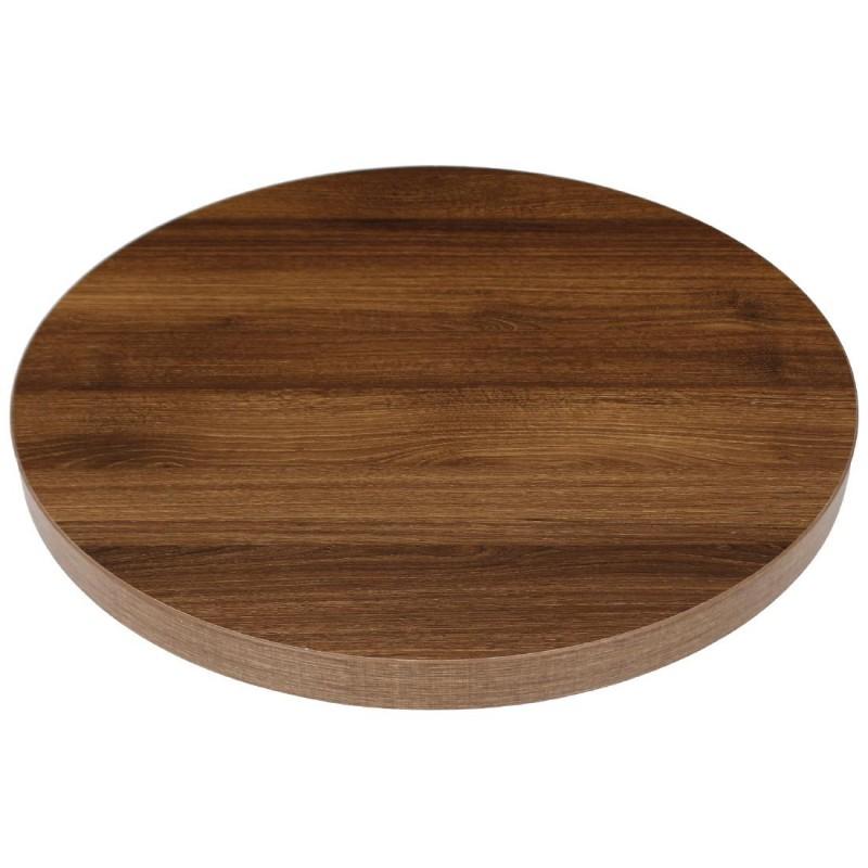 plateau de table rond effe ch ne rustique 600mm bolero. Black Bedroom Furniture Sets. Home Design Ideas