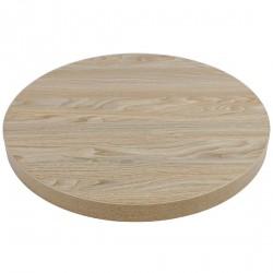 Plateau de table rond effet bois clair 600mm Bolero