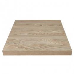 Plateau de table carré effet bois clair 600mm Bolero