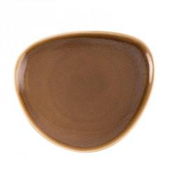 Assiette triangulaire couleur écorce Kiln Olympia 165mm lot de 6