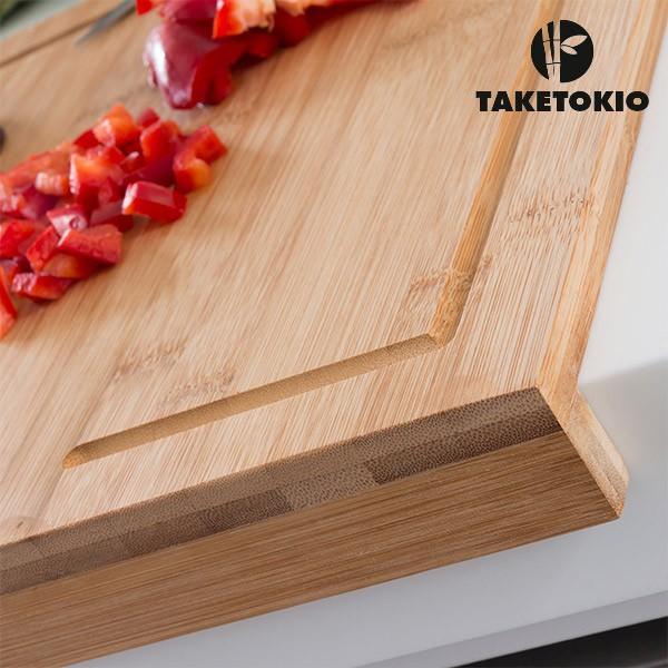 planche À dÉcouper en bambou pour plan de travail taketokio *