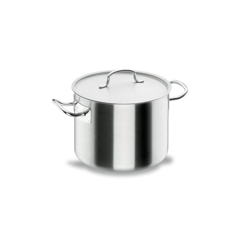 Marmite base traiteur inox 18 10 avec couvercle chef classic lacor horeca pro - Batterie de cuisine inox 18 10 ...